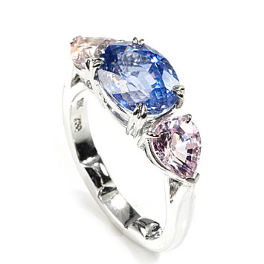 lavender and pink sapphire ring gallery