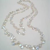 Keshi pearl long rope necklace