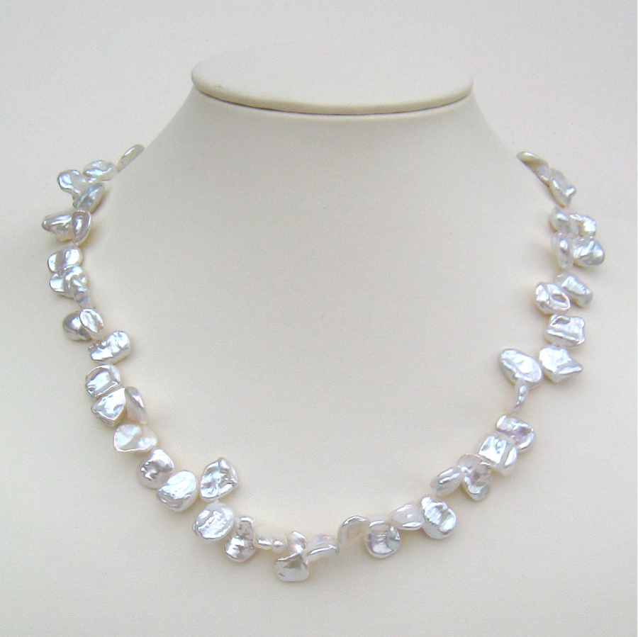 Keshi Pearl Necklace With Silver Magic Clasp