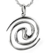 Spiral Galaxy Silver necklace pendant